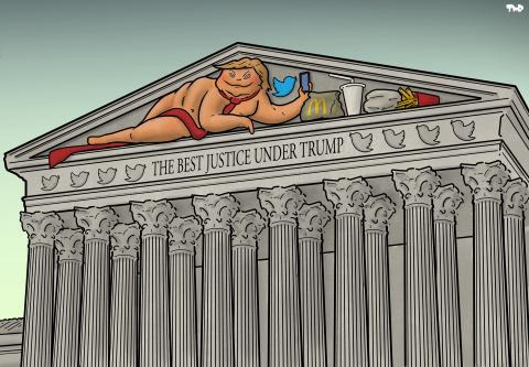 Cartoon about the US Supreme Court