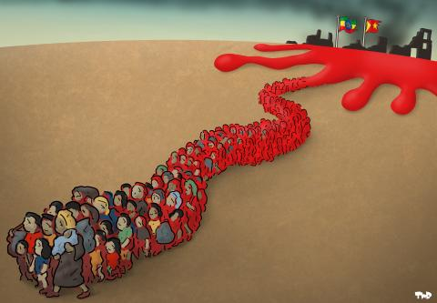 Cartoon about the conflict in Tigray
