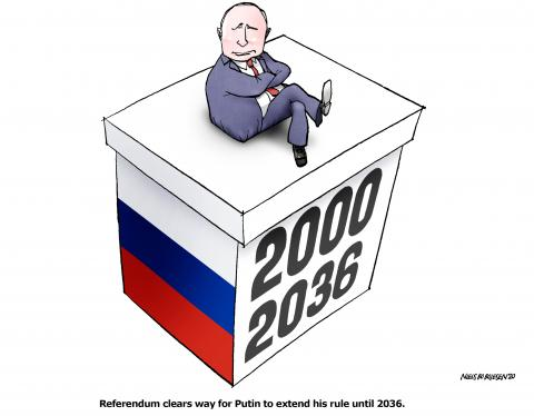 Putin to extend his rule until 2036.