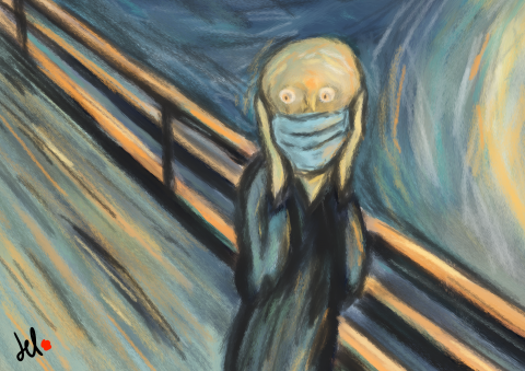 Cartoon The Scream ? by Del Rosso