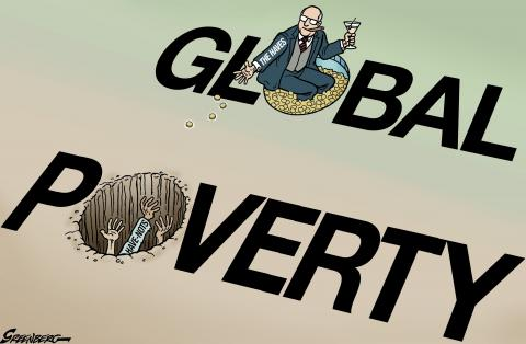 Cartoon about global poverty