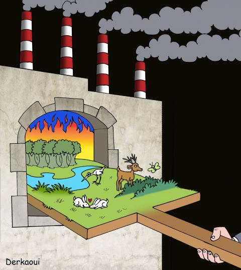 cartoon about climate change.