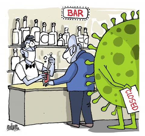 closing of bars due to coronavirus