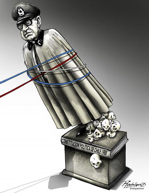 Cartoon about the new constitution in Chile