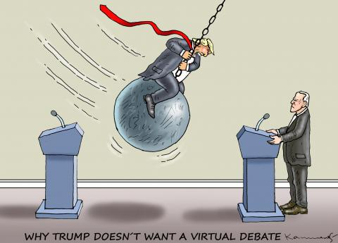 WHY TRUMP DOESN´T WANT A VIRTUAL DEBATE