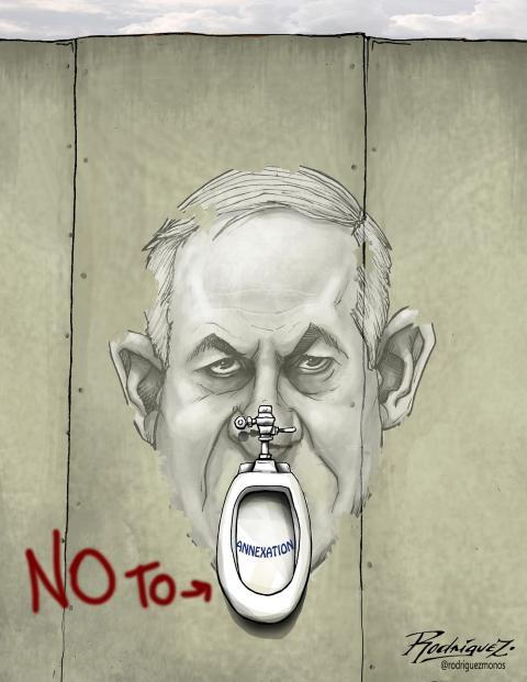 Cartoon about Israel and Netanyahu