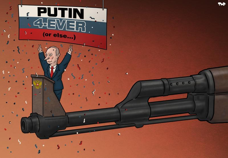 Cartoon about Putin