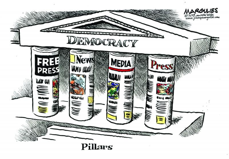 Cartoon about press freedom