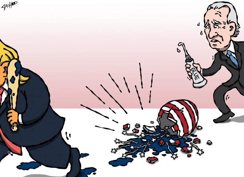Cartoon about Joe Biden