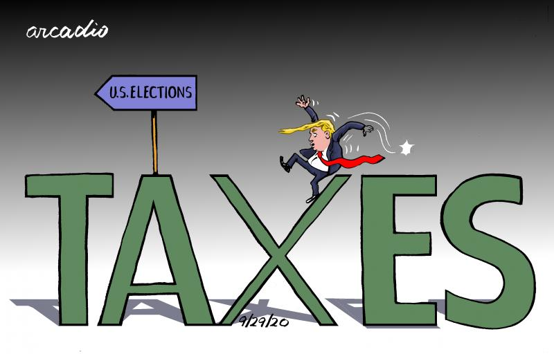 Trump and the taxes.