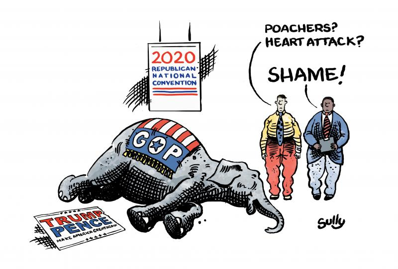 Cartoon about the Republican Party