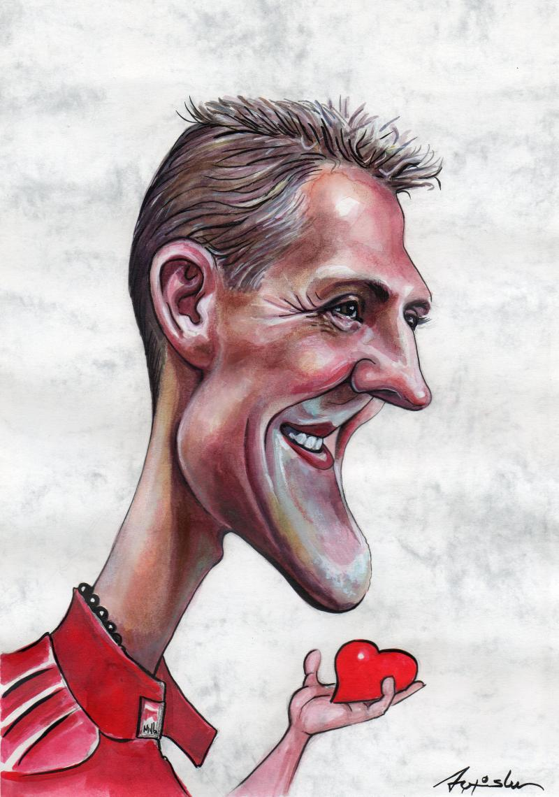 Michael Schumacher Cartoon Movement