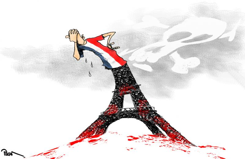 Massacre In Paris France Cartoon Movement