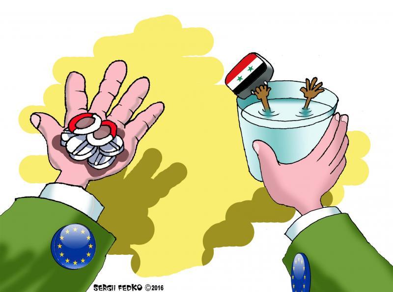 Headache Pain Of Europe Cartoon Movement