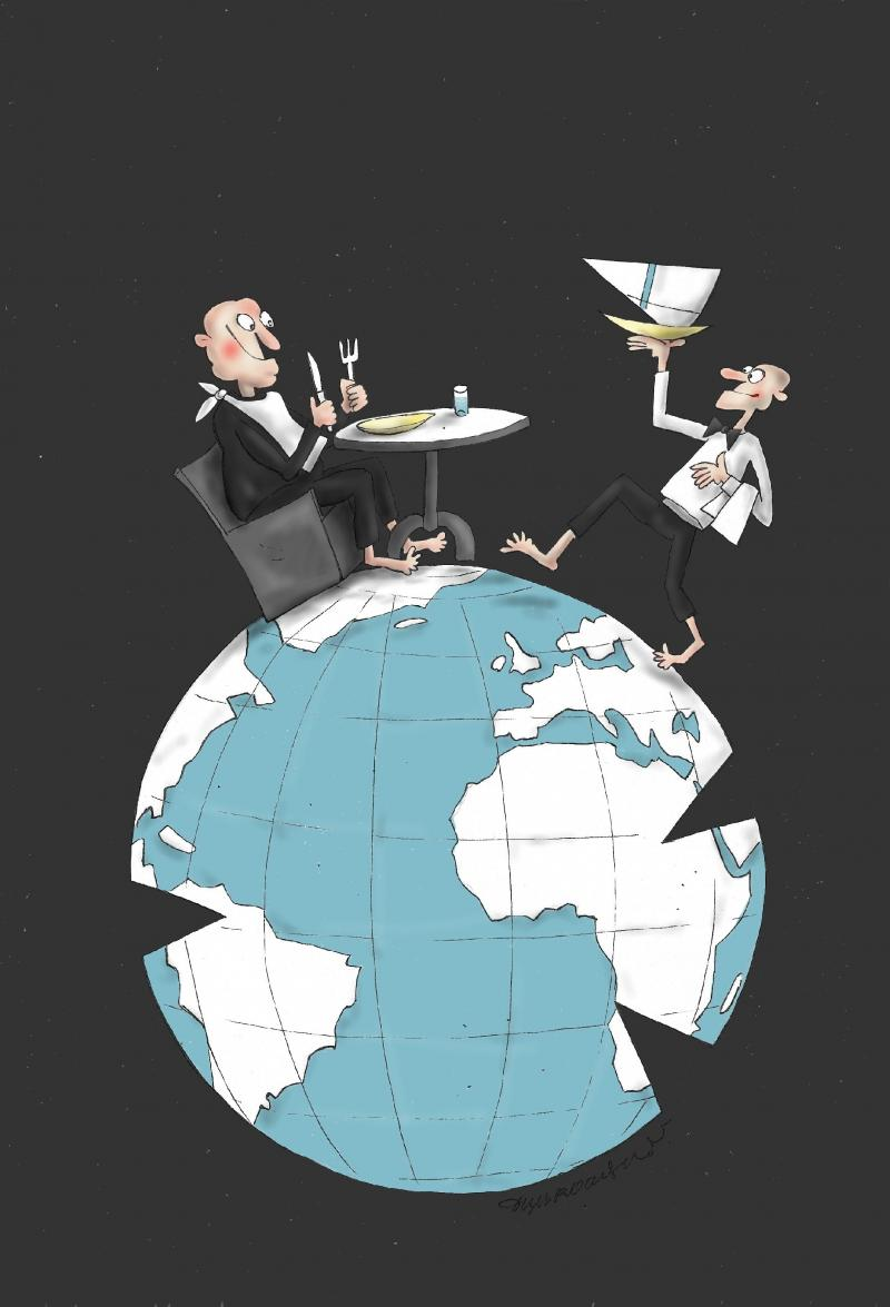 Cartoon about World Food Day