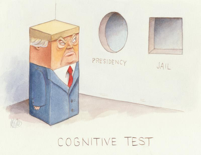 Trump takes a cognitive test